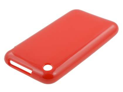 iPhone 3GS/3G Frosted Colour TPU Gel Case - Red
