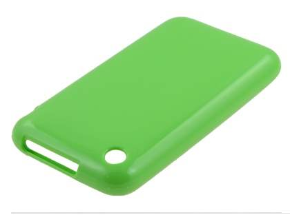 iPhone 3GS/3G Frosted Colour TPU Gel Case - Lime Green