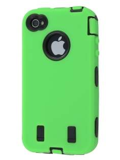 Defender Case for iPhone 4/4S - Green/Black Impact Case