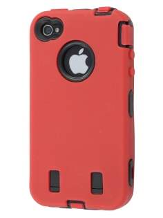 iPhone 4 /4S Defender Case - Red/Black Impact Case