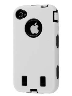 Defender Case for iPhone 4/4S - White/Black Impact Case