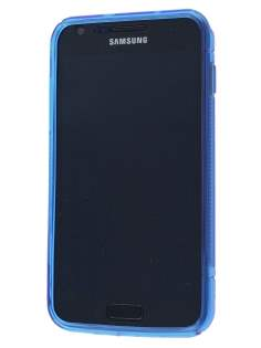Samsung I9210T Galaxy S II 4G Wave Case - Frosted Blue/Blue