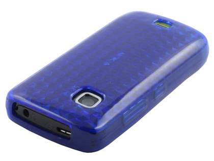 Nokia C5-03 TPU Gel Case - Diamond Navy Blue