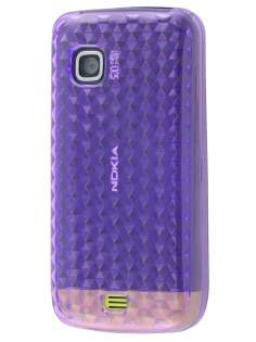 Nokia C5-03 TPU Gel Case - Diamond Purple Soft Cover