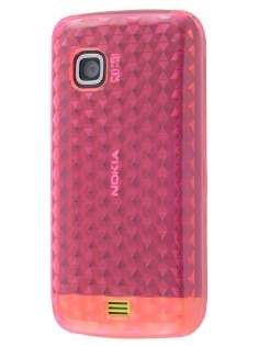 Nokia C5-03 TPU Gel Case - Diamond Pink Soft Cover