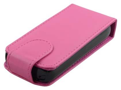 Nokia C5-03 Synthetic Leather Flip Case - Pink