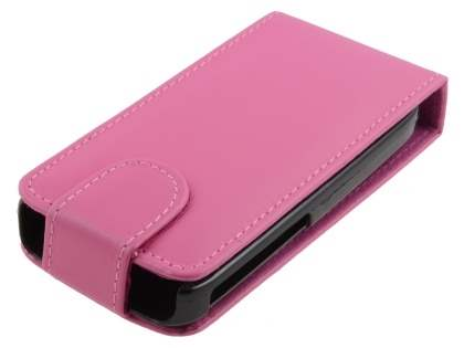 Nokia C3 Synthetic Leather Flip Case - Pink Leather Flip Case