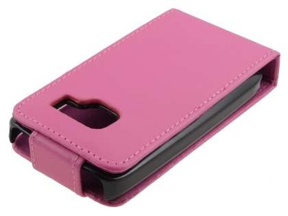 Nokia C3 Synthetic Leather Flip Case - Pink