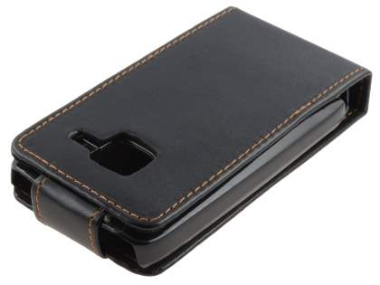 Nokia C3 Synthetic Leather Flip Case - Classic Black