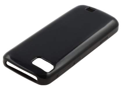 Nokia C3-01 TPU Gel Case - Classic Black Soft Cover