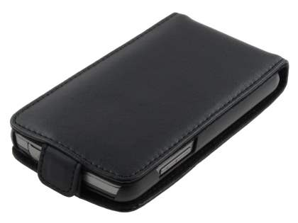 Samsung Galaxy Xcover S5690 Genuine Leather Flip Case - Black