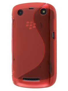 BlackBerry Curve 9360 Wave Case - Frosted Red/Red