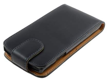 Synthetic Leather Flip Case for Sony Xperia S - Black