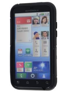 Motorola DEFY ME525 Wave Case - Frosted Black/Black