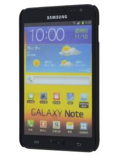 Vollter Samsung Galaxy Note Ultra Slim Rubberised Case plus Screen Protector - Classic Black