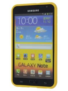 COCASES Dual-Design Case plus Screen Protector for Samsung Galaxy Note - Yellow/Clear