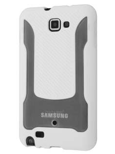 COCASES Dual-Design Case for Samsung Galaxy Note - White/Clear
