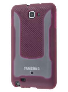 COCASES Dual-Design Case plus Screen Protector for Samsung Galaxy Note - Burgundy Red/Clear