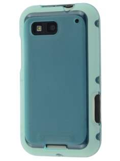 Frosted TPU Case for Motorola DEFY - Frosted Light Blue Soft Cover