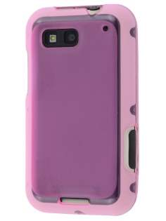 Frosted TPU Case for Motorola DEFY - Frosted Pink Soft Cover