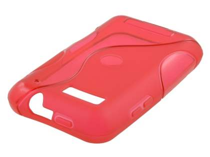 Motorola DEFY ME525 Wave Case - Frosted Red/Red