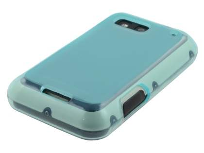 Frosted TPU Case for Motorola DEFY  - Frosted Light Blue