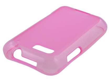 Frosted TPU Case for Motorola DEFY  - Frosted Pink