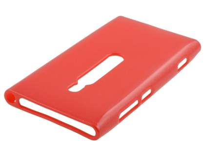 Glossy Gel Case for Nokia Lumia 800 - Red