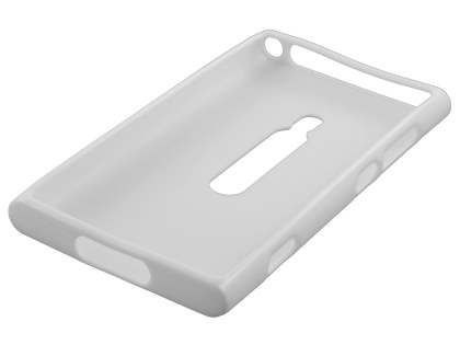 Glossy Gel Case for Nokia Lumia 800 - Pearl White