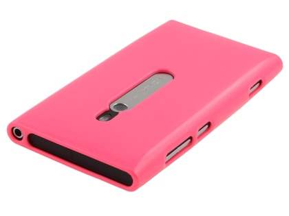 Glossy Gel Case for Nokia Lumia 800 - Hot Pink