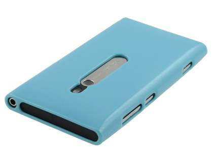Glossy Gel Case for Nokia Lumia 800 - Sky Blue
