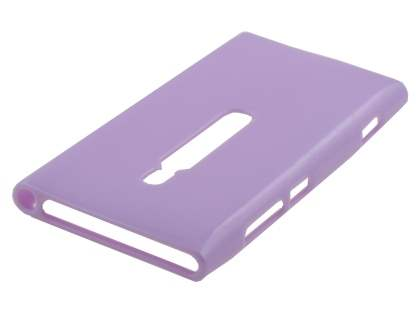 Glossy Gel Case for Nokia Lumia 800 - Light Purple