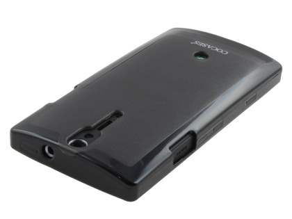 COCASES Dual-Design Case plus Screen Protector for Sony Xperia S LT26i - Black/Grey