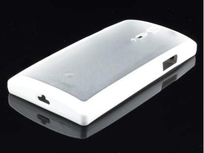 COCASES Dual-Design Case plus Screen Protector for Sony Xperia S LT26i - White/Clear