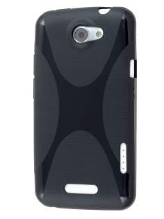 HTC One X / XL / X+ X-Case - Frosted Black/Black Soft Cover