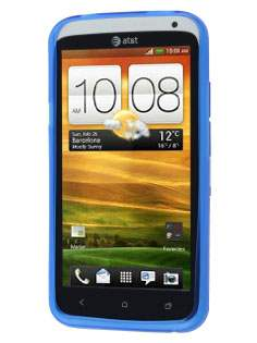HTC One X / XL / X+ X-Case - Frosted Blue/Blue