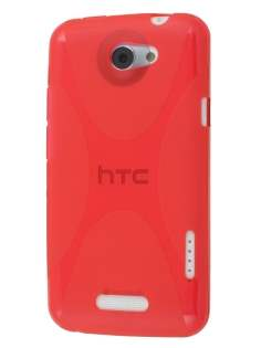HTC One X / XL / X+ X-Case - Frosted Red/Red