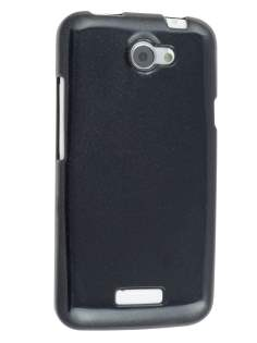 Glossy Gel Case for HTC One X / XL / X+ - Night Black Soft Cover