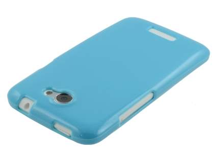 Glossy Gel Case for HTC One X / XL / X+ - Sky Blue