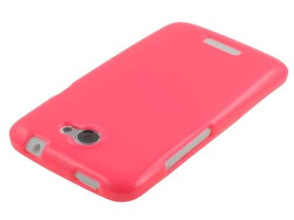 Glossy Gel Case for HTC One X / XL / X+ - Hot Pink