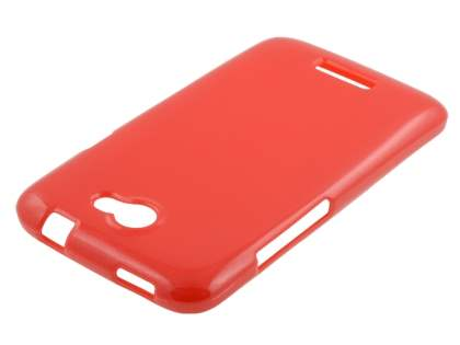 Glossy Gel Case for HTC One X / XL / X+ - Red