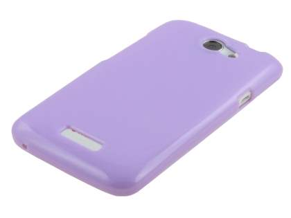Glossy Gel Case for HTC One X / XL / X+ - Light Purple
