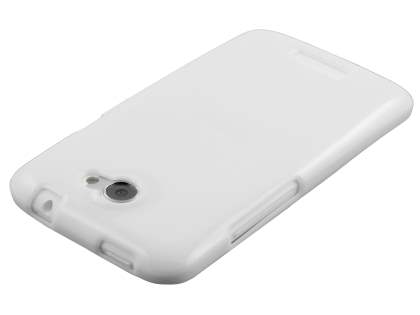 Glossy Gel Case for HTC One X / XL / X+ - Pearl White