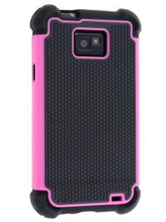 Samsung I9100 Galaxy S2 Impact Case - Pink/Classic Black