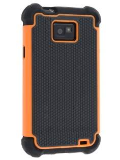 Samsung I9100 Galaxy S2 Impact Case - Orange/Classic Black