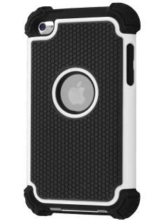 iPod Touch 4G Impact Case - White/Classic Black