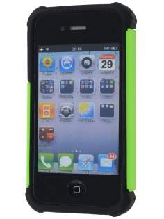 iPhone 4S/4 Impact Case - Lime Green/Classic Black