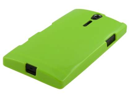 Glossy Gel Case for Sony Xperia S LT26i - Lime Green