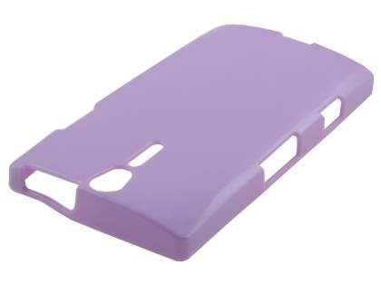 Glossy Gel Case for Sony Xperia S LT26i - Light Purple