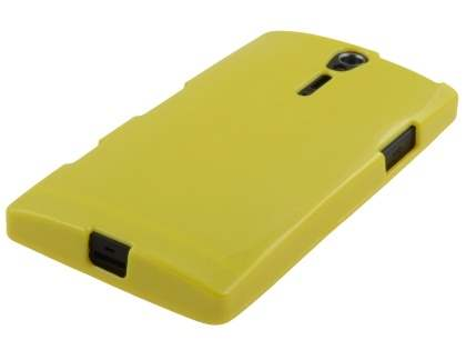 Glossy Gel Case for Sony Xperia S LT26i - Canary Yellow